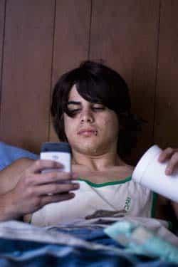 Envoyer un SMS depuis son lit