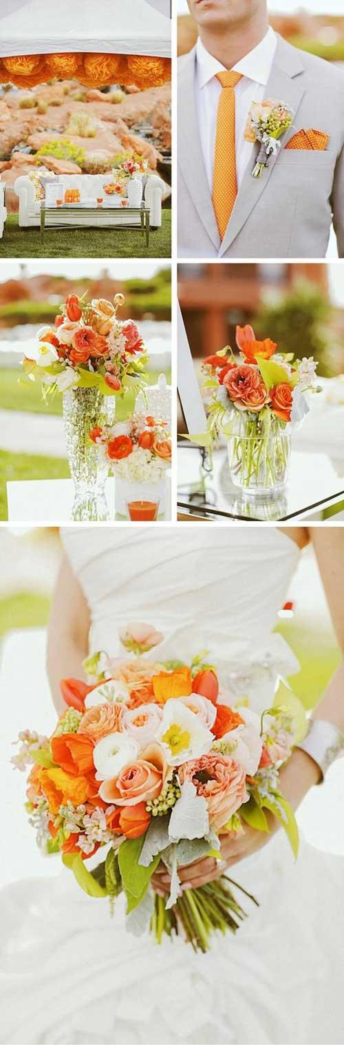 Idées mariage orange 1