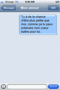 SMS d'amour 1