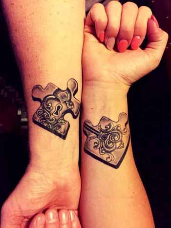 10 id es de tattoo et tatouages pour couple gulamour. Black Bedroom Furniture Sets. Home Design Ideas