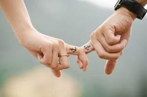 Un couple plein de romance