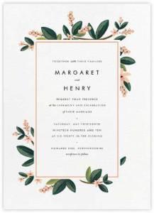 Faire-part de mariage avec des fleurs