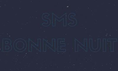 SMS de bonne nuit