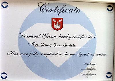 diplom diamantgradering