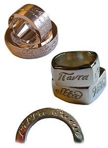 handgraverade ringar