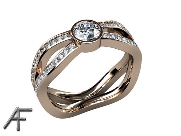 exklusiv alliansring diamanter