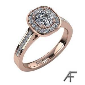 haloring med diamanter roséguld