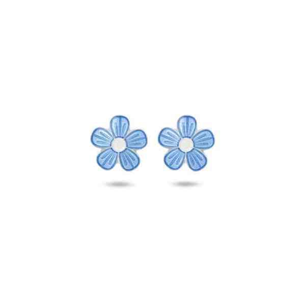 Pia og Per Blå Blomster Ørestikker 90602