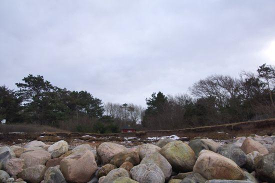 Stormen Bodil i Udshold strand