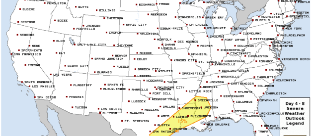Unsettled Weather Pattern Next Week; Flash Flooding, Severe Weather Possible