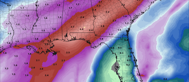 Heavy Rain and Severe Threat Monday Ahead of a Strong Cold Front