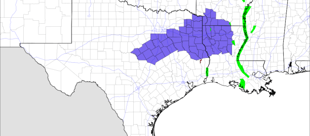 Winter Weather Advisories in Effect for Parts of Texas, Louisiana