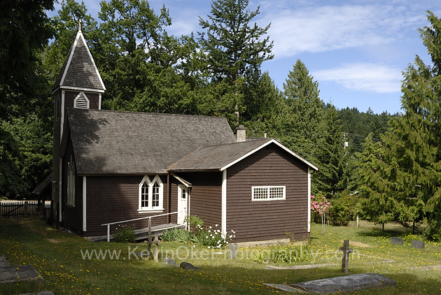 St Mary's Anglican Church built in 1894, Salt Spring Island, British Columbia, Canada