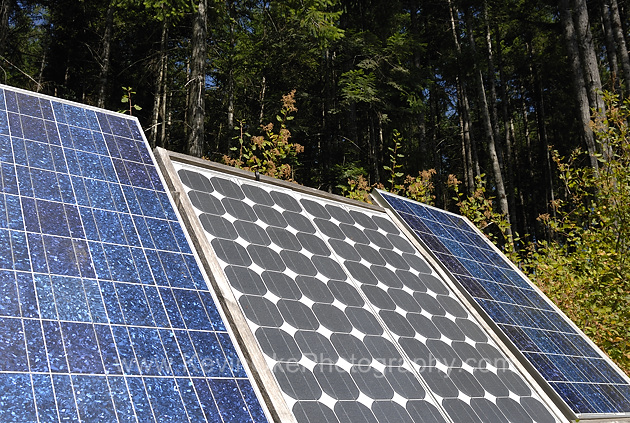 Solar panels providing a Salt Spring Island with energy.