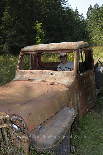 Cool old truck on Wallace Island, Gulf Islands, British Columbia, Canada