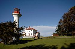 Georgina Point Lighthouse, Gulf Islands National Park, Mayne Island, British Columbia