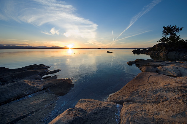 Sunset at Pilkey Point, Thetis Island, British Columbia