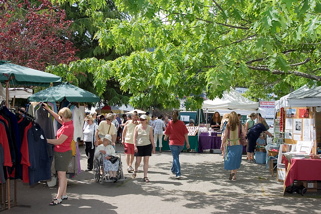 Salt Spring Island's Saturday Market, Ganges, BC