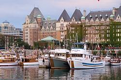 Victoria Harbour and the Empress Hotel, Victoria, British Columbia