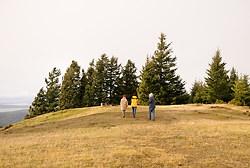 Hiking on Mount Warburton Pike, Gulf Islands National Park, Saturna Island, British Columbia
