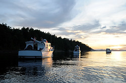 Boating in the Gulf Islands, British Columbia