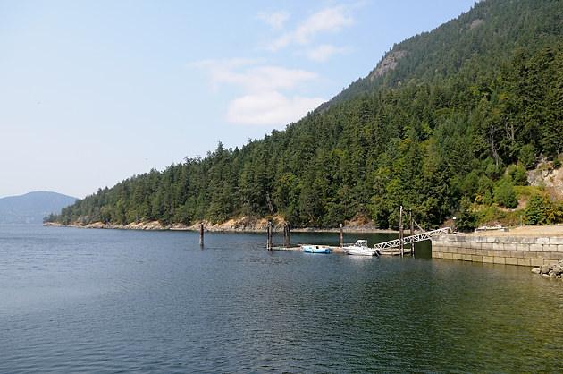 The rocky shore at Burgoyne Bay, Salt Spring Island, British Columbia
