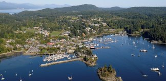 Ganges, Salt Spring Island Aerial Photographs, British Columbia, Canada.