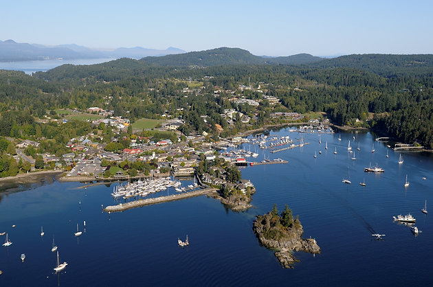 Ganges, Salt Spring Island Aerial Photographs, British Columbia, Canada.