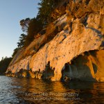 Weather sculpted sandstone, Tent Island, Gulf Islands, British Columbia, Canada