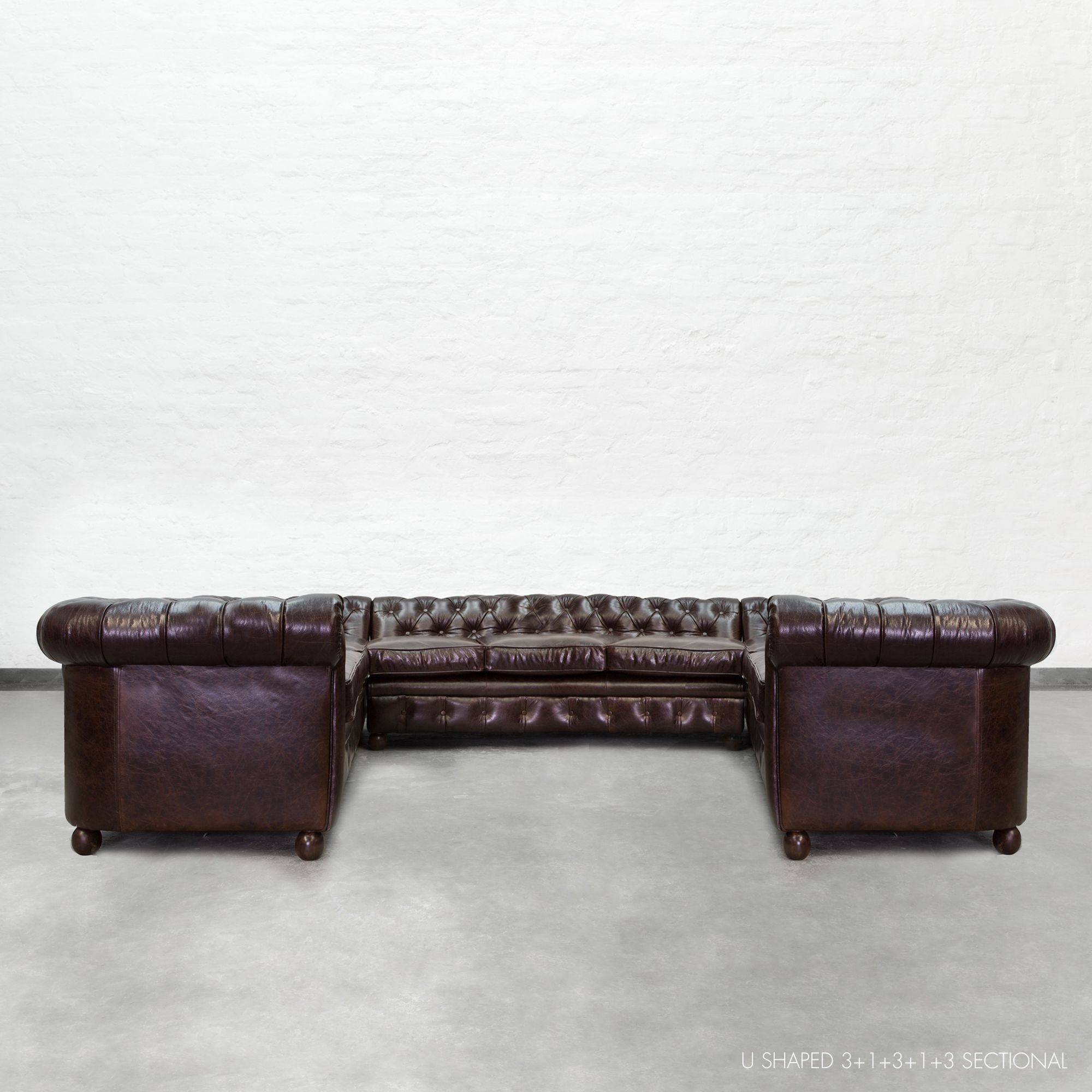 u shaped chesterfield sectional large
