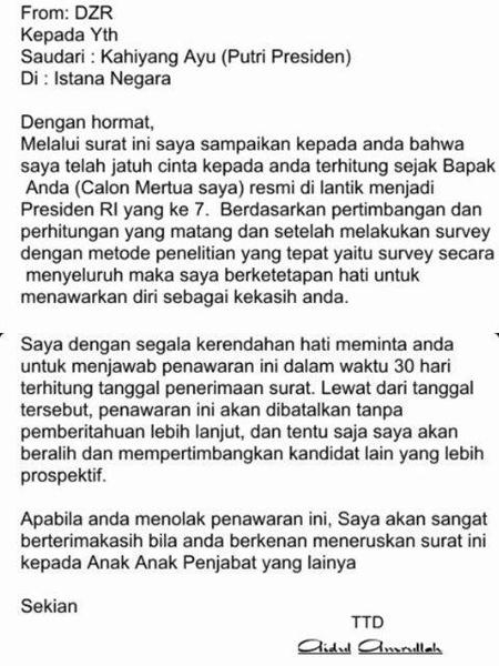 Setelah Gagal Ujian CPNS, Putri Jokowi Dikirim Surat Oleh Psikopat