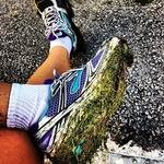 Got a bit of grass on my shoe.