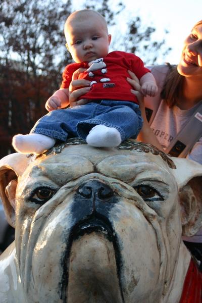 Baby on a Bulldog