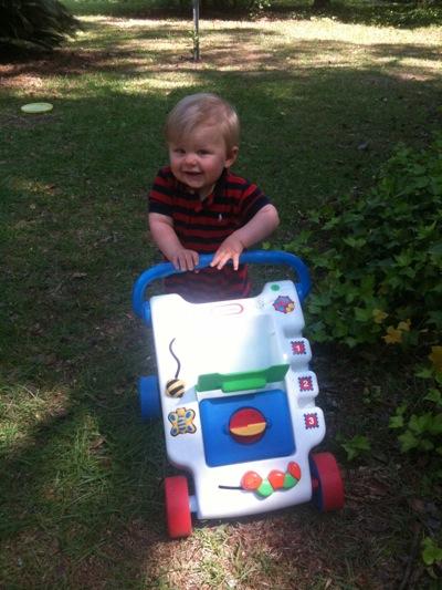 Eli on the move