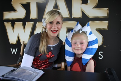 With Ashley Eckstein