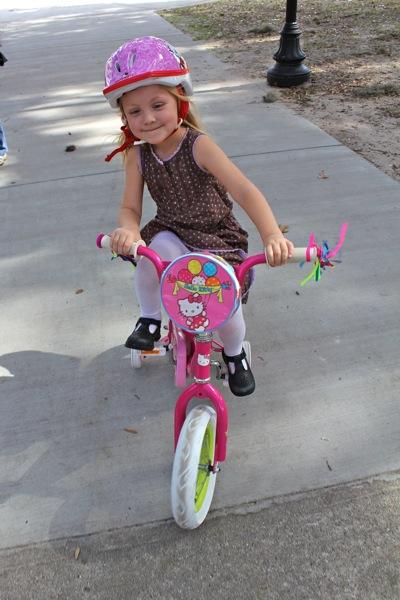 Biking in Forsyth Park