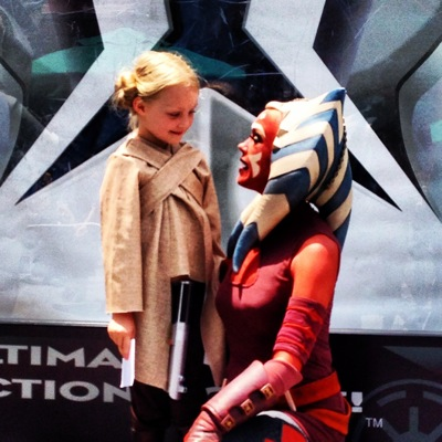 With Ahsoka Tano