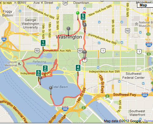 DC Run - The Route