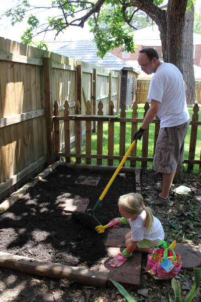 Gardening with Daddy