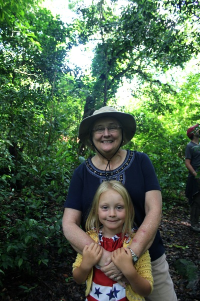 Nana and Camille on the Hike