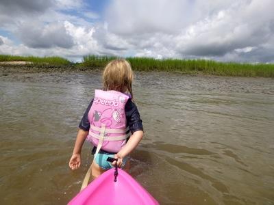 Pulling Up to Mud Island