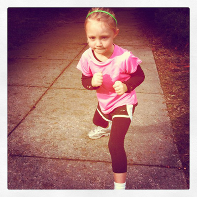 Training for her Race