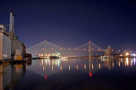 Talmadge Bridge at Night
