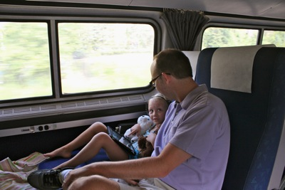 With Dad on the Train