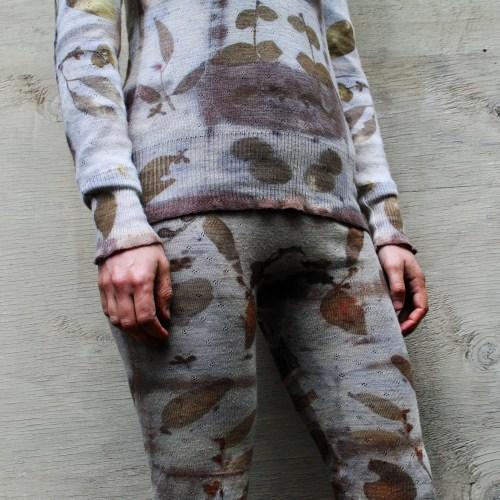 Eco-prints and shibori on wool