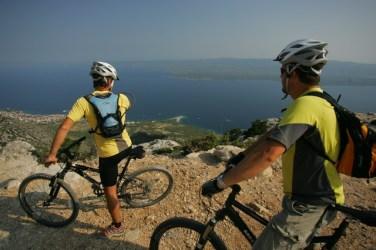Biking from Vidova gora
