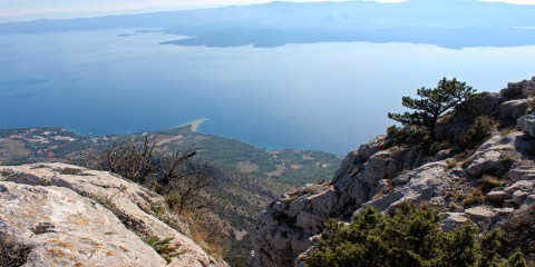 View from the top of the island Brac