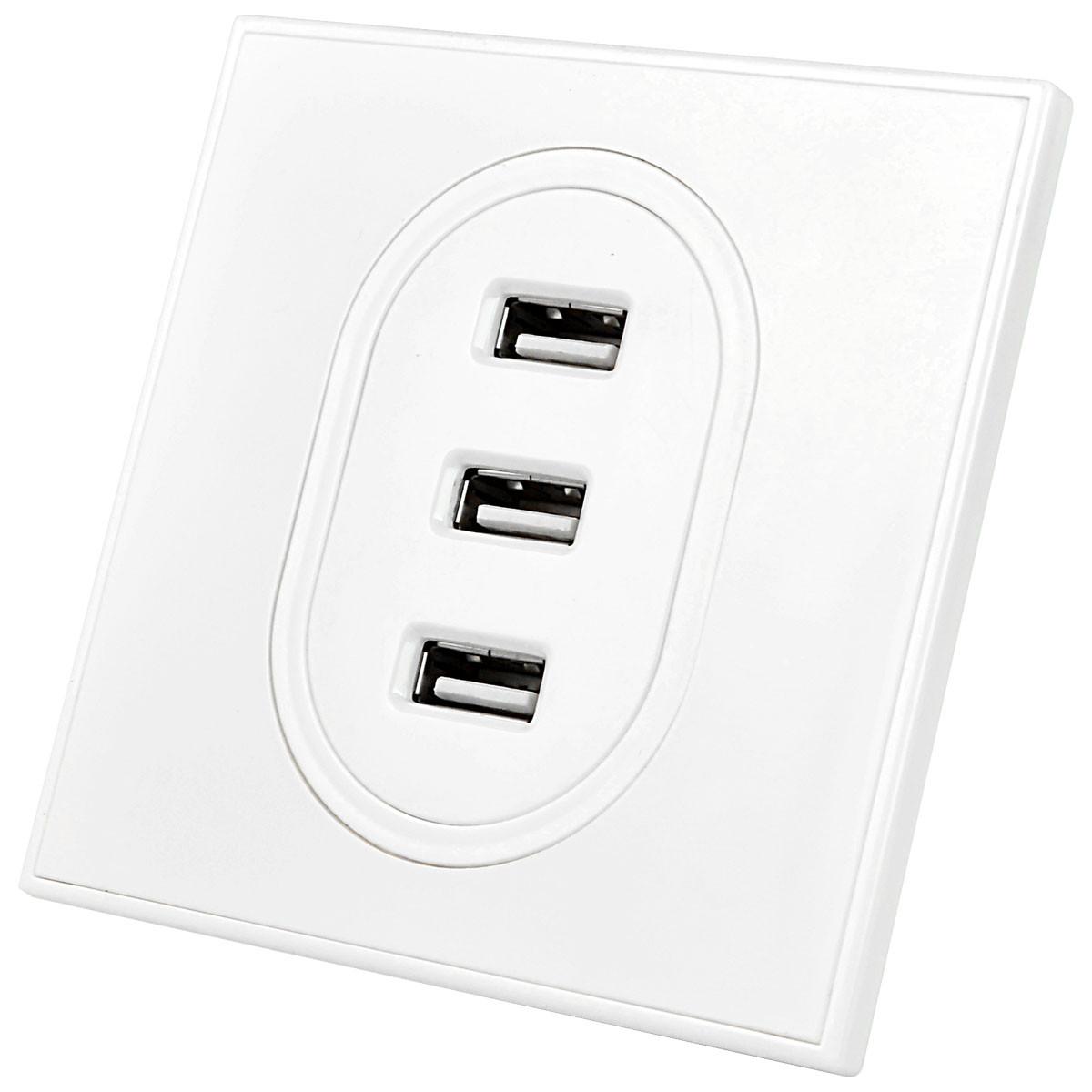 3 Usb Charging Wall Socket Input Ac 100 240v 10a Usb Output Dc 5v 2 1 A