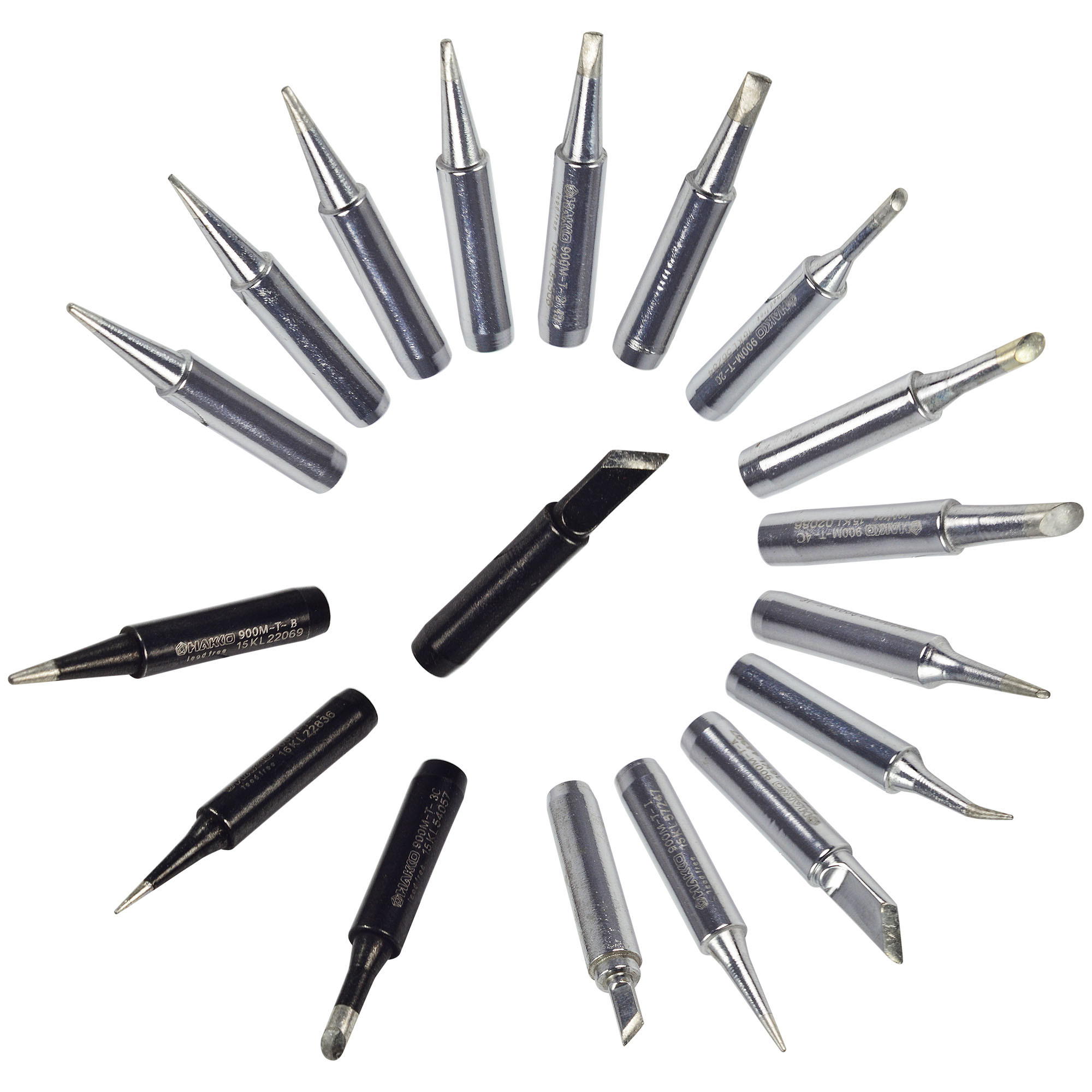 18pcs Solder Iron Tip Lead Free Soldering Bit Replace Tips