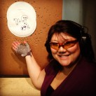 The Wife early practice sessions. She shoots the plate and aims for the last bullet hole. BG38 is accurate.